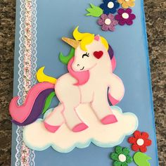 Baby Birthday Card, Unicorn Birthday Parties, Diy Notebook, Decorate Notebook, Diy And Crafts, Crafts For Kids, Paper Crafts, Diwali Card Making, Drawing Lessons For Kids