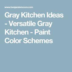 Gray Kitchen Ideas - Versatile Gray Kitchen - Paint Color Schemes