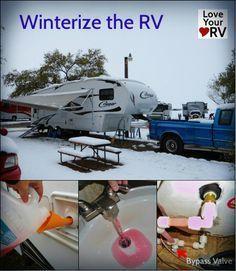Winterizing the RV http://www.loveyourrv.com/quick-fifth-wheel-winterizing-rv-antifreeze/ #RV #Tips #Winterizing