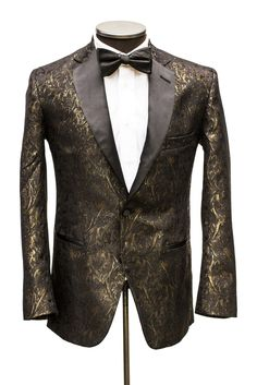 This gold/black gem is a floral blazer in it's own class. It has a ...