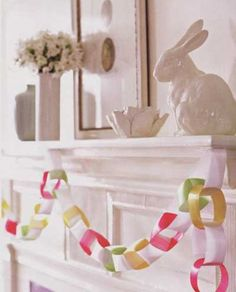 Stylish Easter Mantel Designs