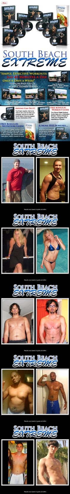 SOUTH BEACH EXTREME Workout DVDs & Home Fitness DVD Program, Are You Sick of Long, Crazy & Complicated Workouts That Make You Hate Fitness and Keep You Fat and Out-of-Shape?  South Beach Extreme may just be the answer you've been looking for. In this 4 day-per-..., #Sporting Goods, #Exercise Videos Extreme Workouts, Fun Workouts, At Home Workouts, Best Workout Dvds, Fitness Dvd, Exercise Videos, Out Of Shape, Fit Board Workouts, South Beach