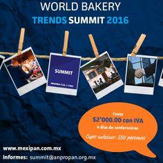 ¡No te quedes fuera de nuestro Summit! Quedan pocos lugares disponibles.  http://www.mexipan.com.mx  #Mexipan2016 #Mexipan #Panadería #Enterpreneur #Startup