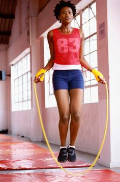 Jump Rope! It's not as hard on knees as running, and works all your muscle groups especially with a weighted Jump Rope.   Warm up: 5 min with a steady pace  30 sec as fast as you can go  60 seconds steady pace  repeat this cycle for 20 minutes and you'll be feeling the benefits of jump rope in no time.