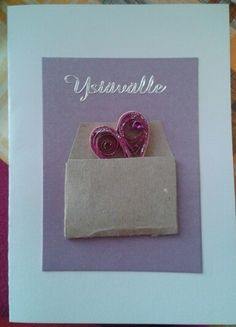 Heart in the envelope by quilling