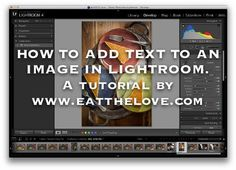 Looking for a tutorial on how to add text to pictures? Check out this easy tutorial doing just that in Adobe Lightroom! Photography Lessons, Photoshop Photography, Photography Tutorials, Photography Ideas, Vintage Lightroom Presets, Adobe Photoshop Lightroom, Canon 100d, Camera Aesthetic, Fotografia Tutorial