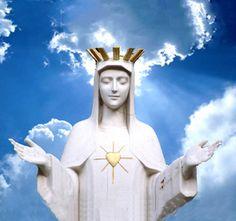 """La Virgen se hizo ver con su corazón resplandeciente y dorado. El 3 de enero La Virgen dijo: """"¡Soy la Madre de Dios, La Reina del Cielo. Reza siempre!""""   Entrevista a Gilbert Degeimbre, vidente"""