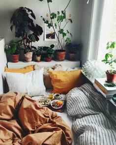 CoY looking bed right near a window. Perfect for sipping tea and reDing books!