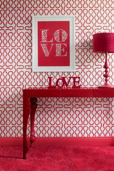 Spread the love #red #decor #inspiration