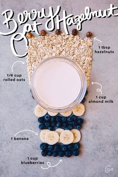 2. Berry Oat Hazelnut #greatist http://greatist.com/eat/simple-smoothie-recipes