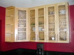 Combine glass with your cabinets!