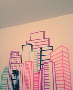 Building made with washi tape