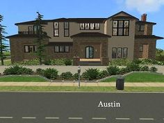 Spanish modern in a desirable neighborhood of Austin . Sims 2 House, Spanish Modern, Sims 1, The Expanse, Mansions, House Styles, Home Decor, Mansion Houses, Room Decor
