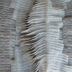 creative fabric manipulation sample with three-dimensional design; beautifully inventive textile textures; textile surface creation