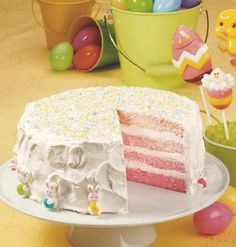 Recipe for Spring Ombre Layer Cake
