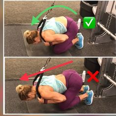 ✅THIS vs THAT❌ Abdominal rope crunches For this exercise to be most effective, I would recommend the following key thing
