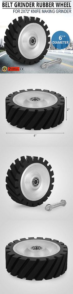Grinding Wheels and Accessories 79703: 6 Dia Belt Grinder Rubber Wheel For 2X72 Knife Making Grinder Contact Pro -> BUY IT NOW ONLY: $114.49 on eBay!
