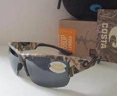 COSTA DEL MAR mossy oak camo/gray HATCH POLARIZED 580P sunglasses NEW IN BOX!