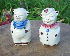 Shawnee Pottery Winnie And Smiley Salt And Pepper Shakers   $125