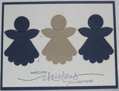 Krafting with Karen: Simple Angel Punch Card Homemade Christmas Cards, Printable Christmas Cards, Xmas Cards, Homemade Cards, Holiday Cards, Cards Diy, Handmade Christmas, Paper Punch Art, Punch Art Cards