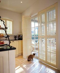 Mooie shutters voor de tuindeuren.