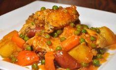 Poulet aux pommes de terre et chorizo avec cookeo