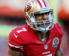 Colin Kaepernick i love this man!!!!! dont like the 49ers but i love that man!!!