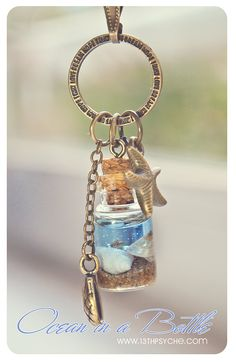 Ocean in a Bottle necklace. Vial necklace with Shells. mini Glass bottle necklace. shell Bottle Pendant. Sea bottle miniature. €11.99, via Etsy.
