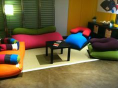 a living room made entirely of Yogibo!