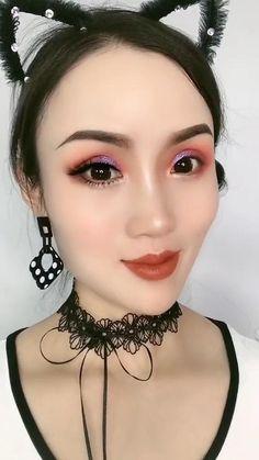Asian Make Up, Korean Make Up, Makeup Videos, Makeup Tips, Korean Makeup Tutorials, Simple Makeup Looks, How To Apply Eyeliner, Daily Makeup, Face Makeup