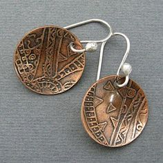 Mary Newton Jewelry: Etched Jewelry
