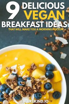 Whats your favourite vegan breakfast food We love vegan breakfast recipes that involve vegan pancakes vegan flatbread and sometimes even a vegan recipe filled with just r. Best Vegan Recipes, Vegan Breakfast Recipes, Whole Food Recipes, Vegetarian Recipes, Healthy Recipes, Breakfast Ideas, Vegan Facts, Vegan Nutrition, Nutrition Month