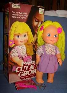 Pretty cut and grow doll. I learned how to braid hair on her!