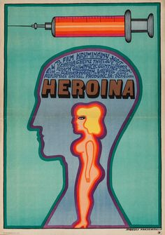 Polish Poster for Heroin (Horst E. Brandt and Heinz Thiel, 1968) Designed by Andrzej Krayewski
