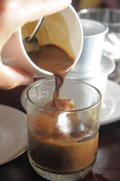 ca phe sua da--i want to  try this.....vietnam coffee