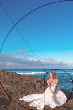 Golden Rectangle: The overlay shows the composition of the picture - first rectangle is the sky, next the beach, then the girl.