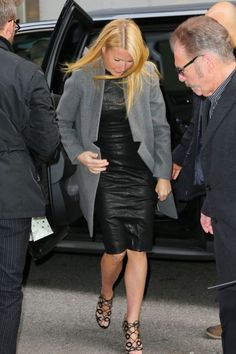 Gwyneth Paltrow making an an appearance at Good Morning America