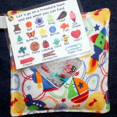 Spy bags- what a great *quiet time* idea!