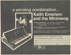 Keith Emerson and the Minimoog