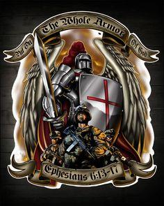 "Armor of God """"Ephesians 6:13-17"""" Military Decal"