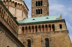 From Wikiwand: Dwarf galleries are a major decorative feature on the exterior of Speyer Cathedral, Germany (1090–1106), surrounding the walls and encircling the towers. This was to become a feature of Rhenish Romanesque.