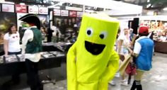 BEST COSPLAY EVER: You know how, outside car yard sales, they'll have those big inflatable stick figure people who flap around? CLICK TO SEE VIDEO