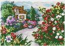 Cross stitch kit Blooming garden - Chudo Igla (Magic Needle) > Chudo Igla (Magic Needle) > Cross stitch kits > The Stitch Company Cross Stitch Bird, Cross Stitch Flowers, Cross Stitching, Cross Stitch Patterns, Embroidery Fabric, Red Flowers, Framed Art, Free Pattern, Bloom