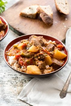 Instant Pot Cuban Beef Stew recipe (Carne con Papas) gluten-free. Tender beef chunks, potatoes in a rich, savory broth cooked in a flash in the Instant Pot! Gluten-free. - BoulderLocavore.com