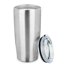 f5ce5d22399 ONEB 20 oz Double Wall Vacuum Insulated Coffee Cup - 18/8 Stainless Steel Travel  Mug for Cold & Hot Drinks (Silver
