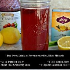 Learn how to make the Jillian Michaels Recommended 7 Day Detox Drink Recipe to help shed 5 pounds of water weight in just ONE week and lose the belly bloat! Detox Recipes, Tea Recipes, Healthy Dinner Recipes, Salt Water Flush, 7 Day Detox, Detox Plan, Jillian Michaels, Diet Snacks, Healthy Diet Plans