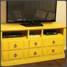 DIY: Dresser turned TV Console!