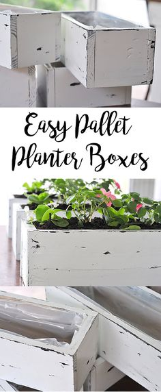 Pallets are all the rage, am I right? Check out our newest tutorial on DIY pallet planter boxes for flowers, succulents or herbs.