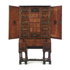 A Bohemian ebony, fruitwood, burr and boxwood parquetry bureau cabinet<br>Eger, third quarter 17th century | lot | Sotheby's