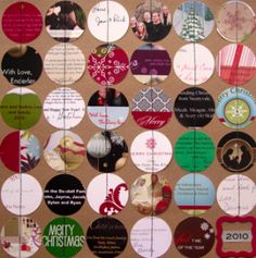 Greeting card garland; recycle plus keep pieces of memory alive.